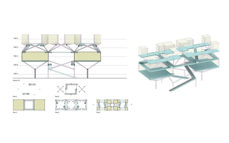 Mass Model for Residential Block
