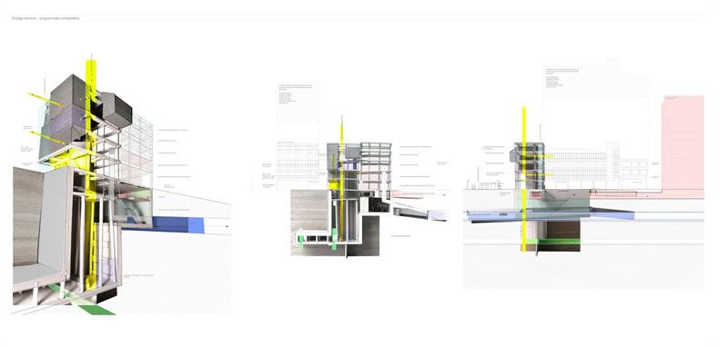 Structure And Volume Collage Sections Perspectives